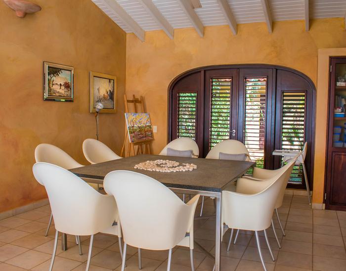 eetkamer Cantu - Bonaire Oceanview Rentals